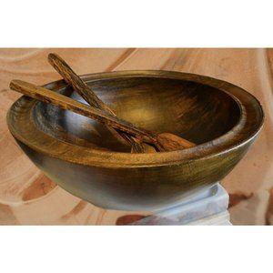 MidCentury Modern Wood David Auld Art Salad Bowl